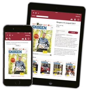 SKOGEN digitalt i smartphone eller surfplatta