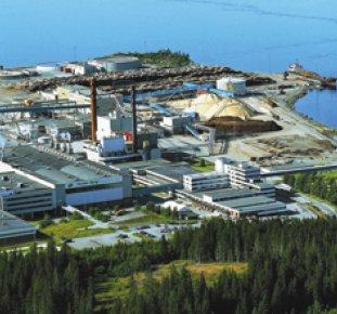 Norske skogs bruk i Skogn fortsätter att köpa virke från Sverige och hålla priserna uppe. Foto: Norske skog