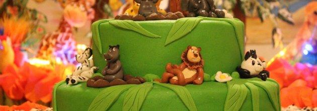 Tårta med djungelmotiv till internationella skogsdagen.