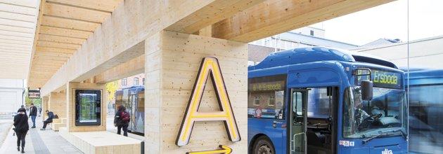 Limträkonstruktion bussterminal