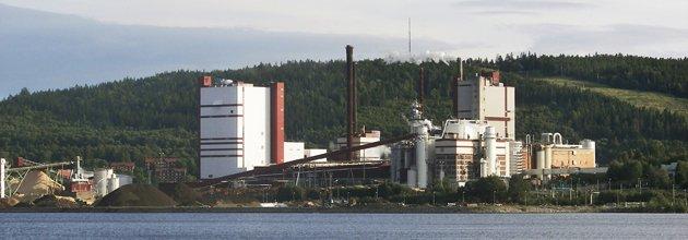 SCA:s massafabrik i Östrand