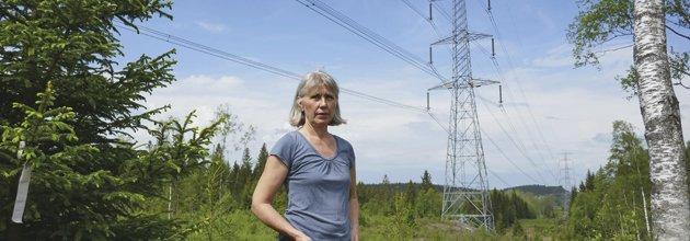 Kristina Lindberg vid kraftledningsgatan