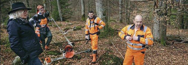 Skogsarbetare från Nordströms Skog