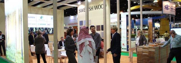 Det svenska deltagandet på Dubai Wood Show den 8 – 10 april initierades och samordnades av Svenskt Trä.